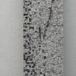 VAGUES   28 X 134 cm  Granit/Ardoises/Emaux