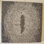 EPIS DE GALETS   50 X 50 cm Granit du Tarn/Travertin