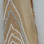 LINEA BLU   Marbre de Carrare/Marbre AZUL MACAUBAS  30 X 47 cm
