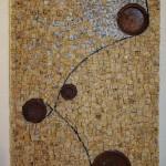 ROUAGES   45 X 35 cm Granit Jaune/Granit du Tarn