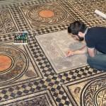 Relevé de Mosaïques par OPUS MOSAIQUE au MUSEE GALLO-ROMAIN DE FOURVIERE A LYON